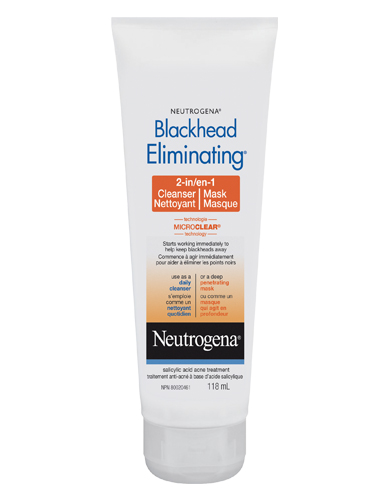 NEUTROGENA BLACKHEAD ELIMINATING 2 in 1 Cleanser and Mask